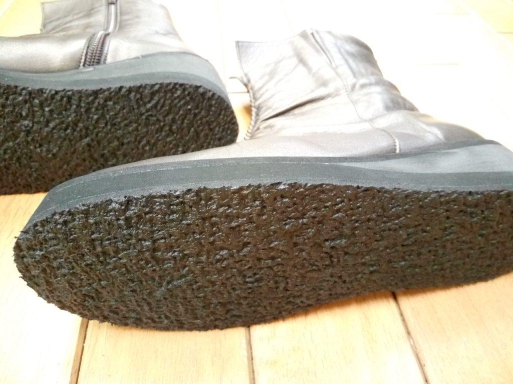 レディースブーツのオールソールの靴修理