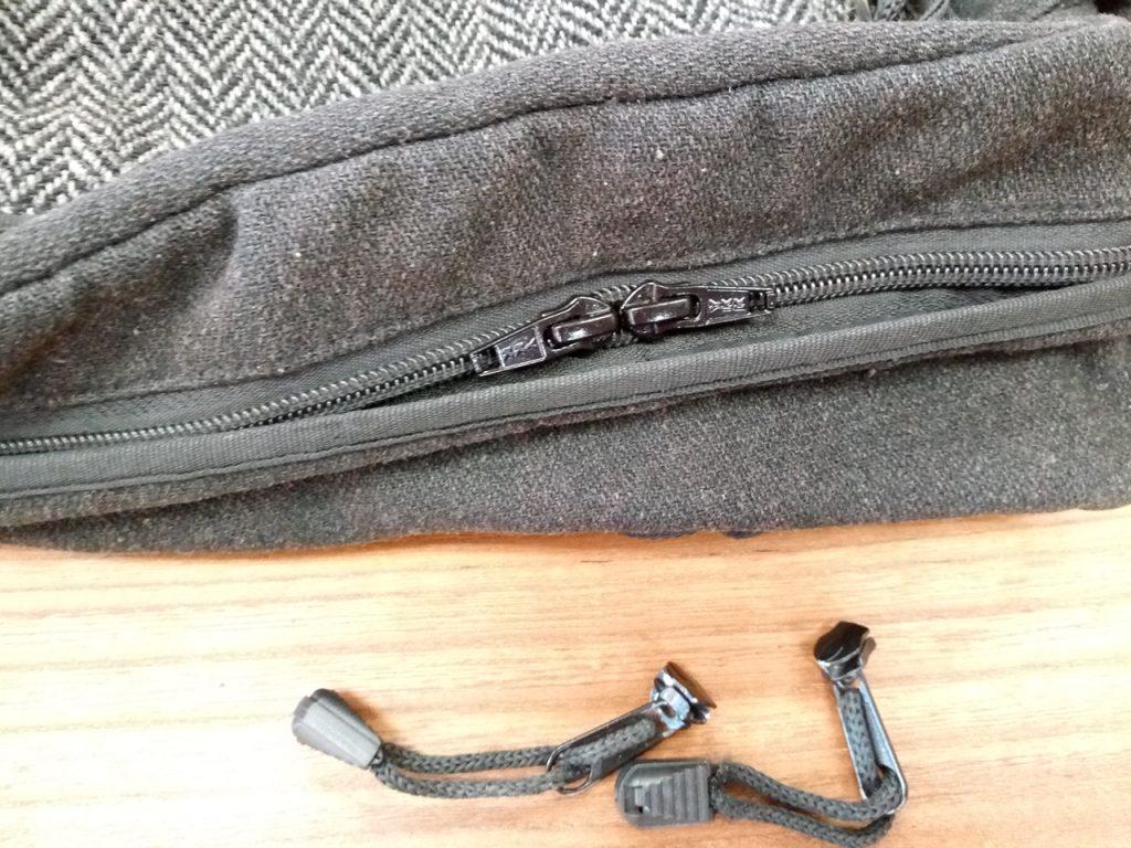 バッグのファスナースライダー交換の鞄修理