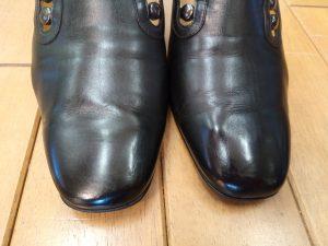 レディース・スリッポンのアッパー補修の靴修理