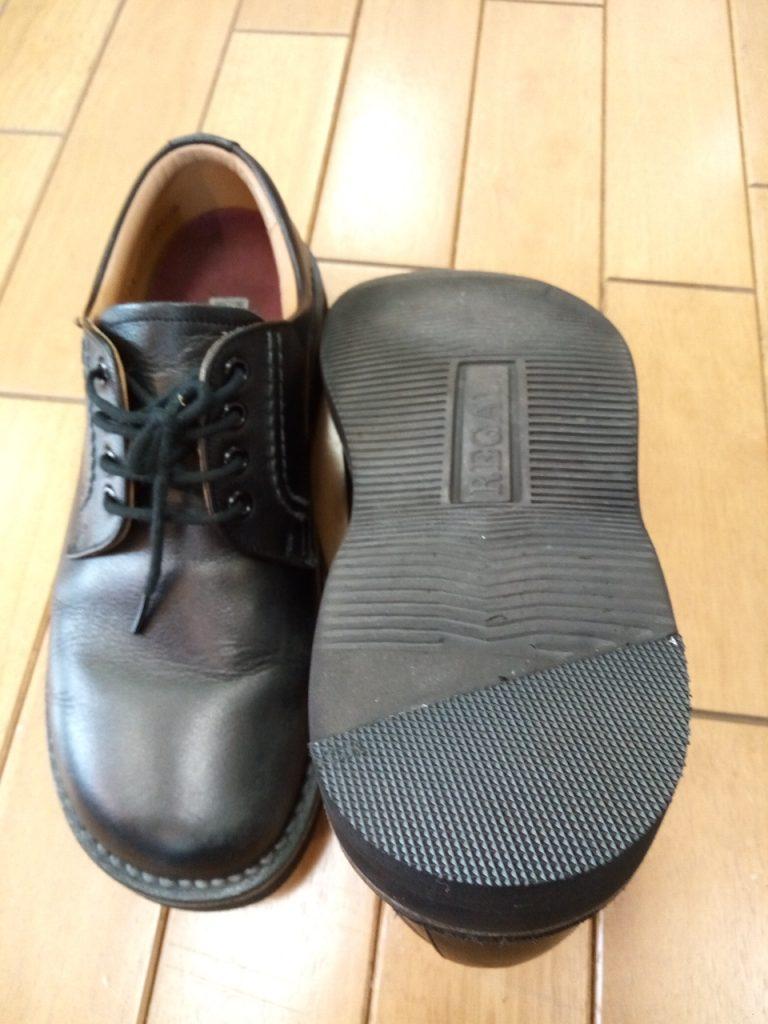 リーガルのメンズシューズのヒールの部分補修の靴修理