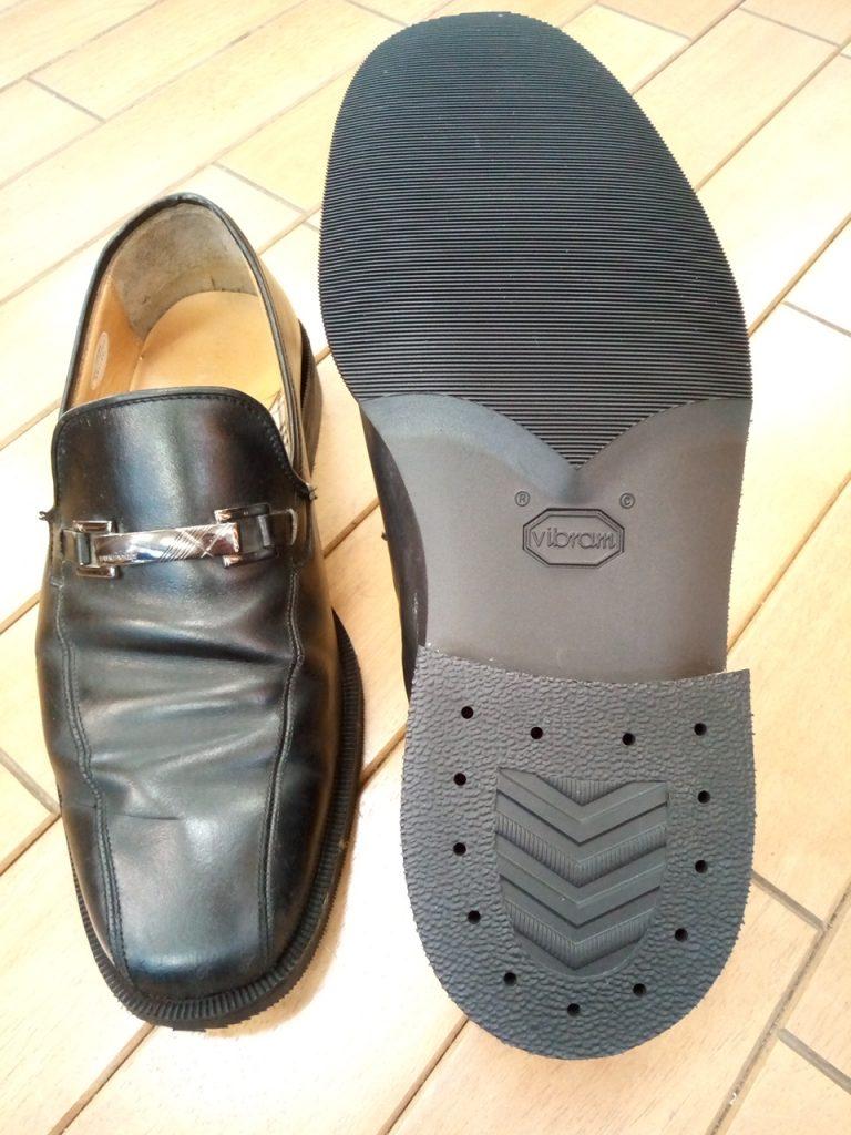 バーバリーのローファーのオールソール交換の靴修理