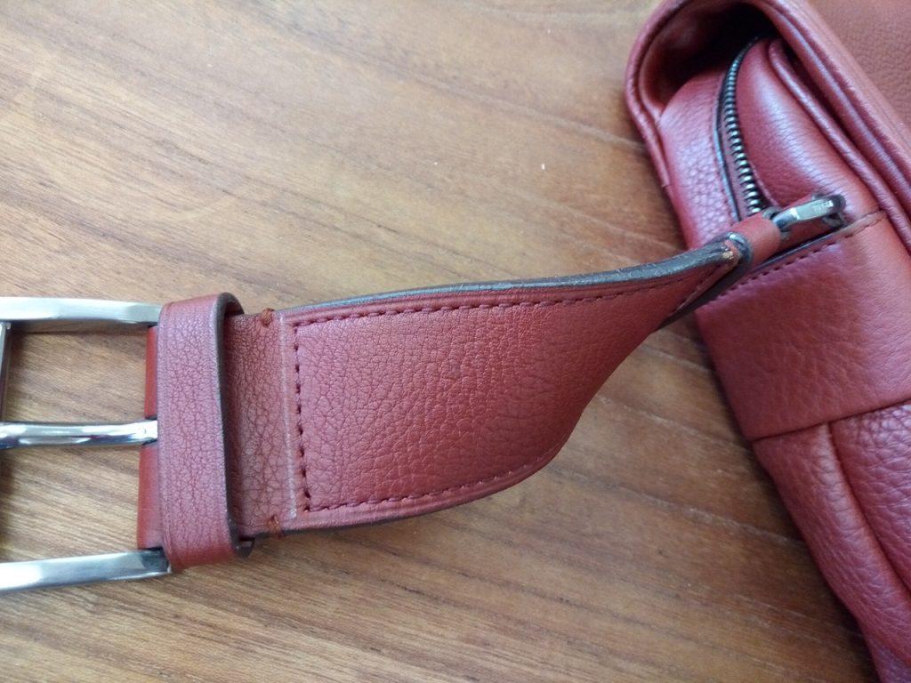 プラダのバッグのベルトステッチ補修の鞄修理