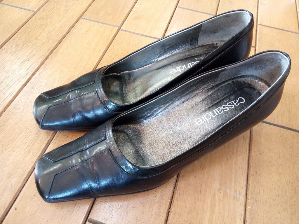 レディースパンプスのトップリフト交換の靴修理