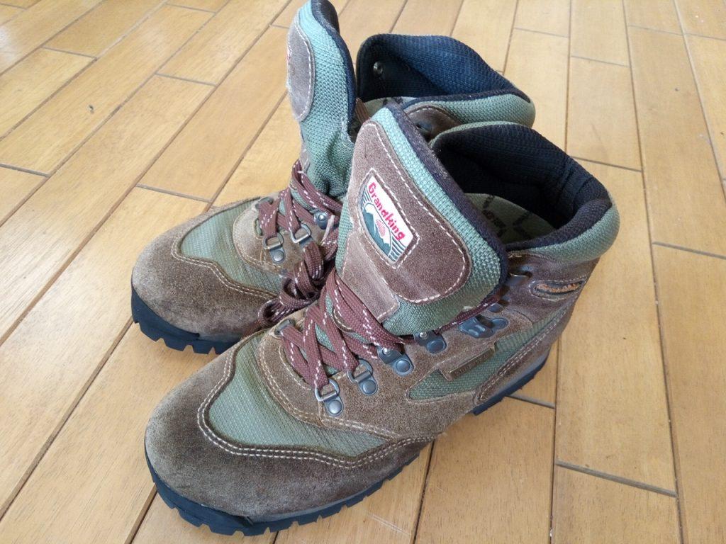 メンズ・トレッキングシューズのオールソールの靴修理