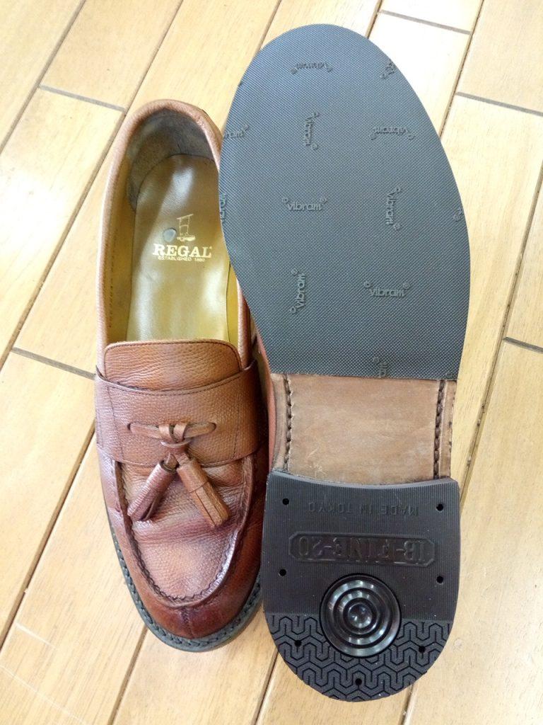 リーガルのローファーのオールソール交換の靴修理