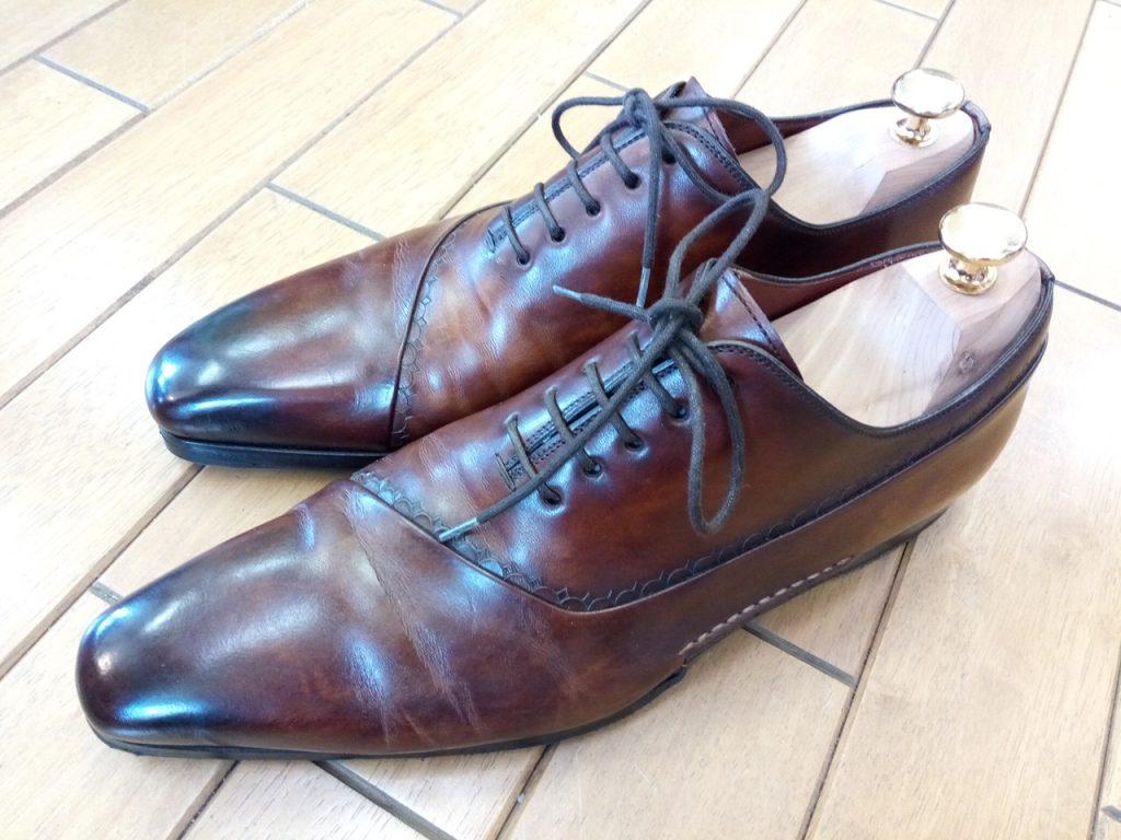マグナーニのゴム半張りの靴修理