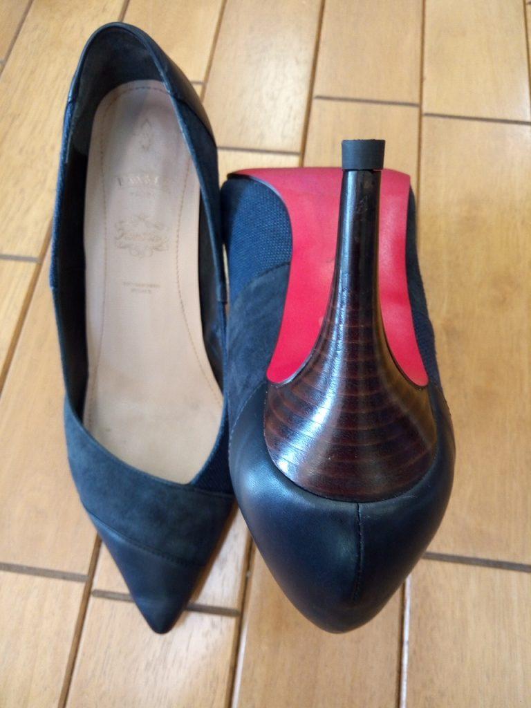パンプスのピンヒール交換&アッパー補修&ヒール補修の靴修理