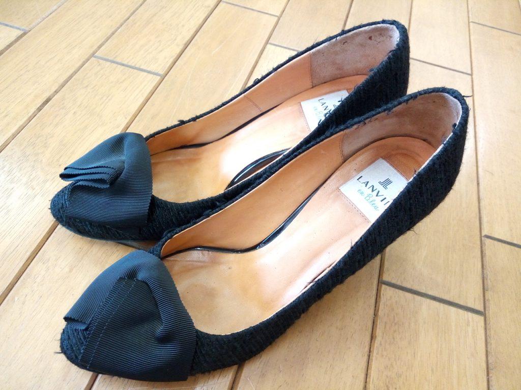 パンプスのピンヒール交換&ヒールの革巻き補修の靴修理