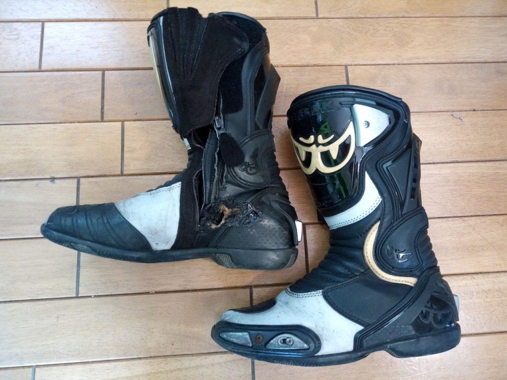バイク・オートバイ用ブーツの修理14