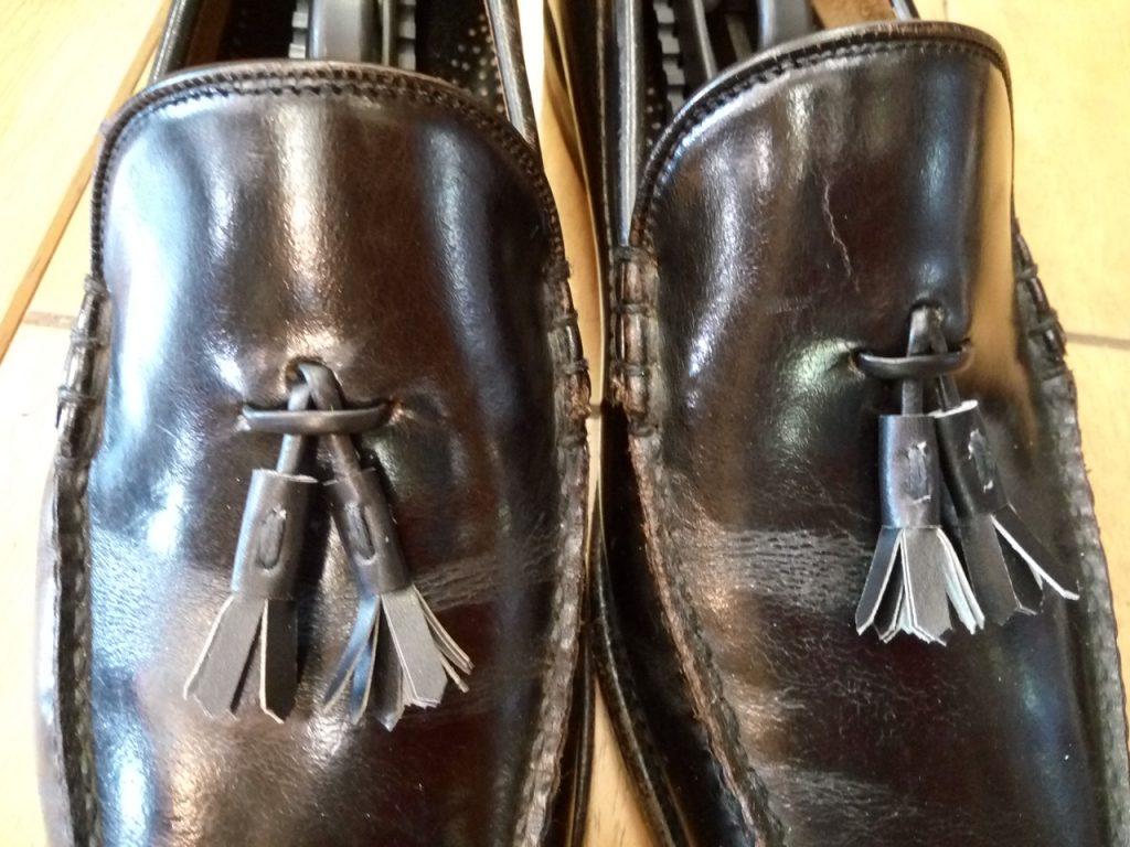 ヤンコのローファーのタッセル作製&取付けの靴修理