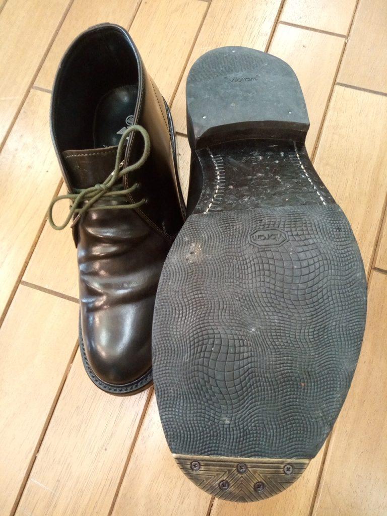 メンズ・トゥスチールの取付の靴修理