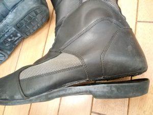 バイク用ブーツの修理