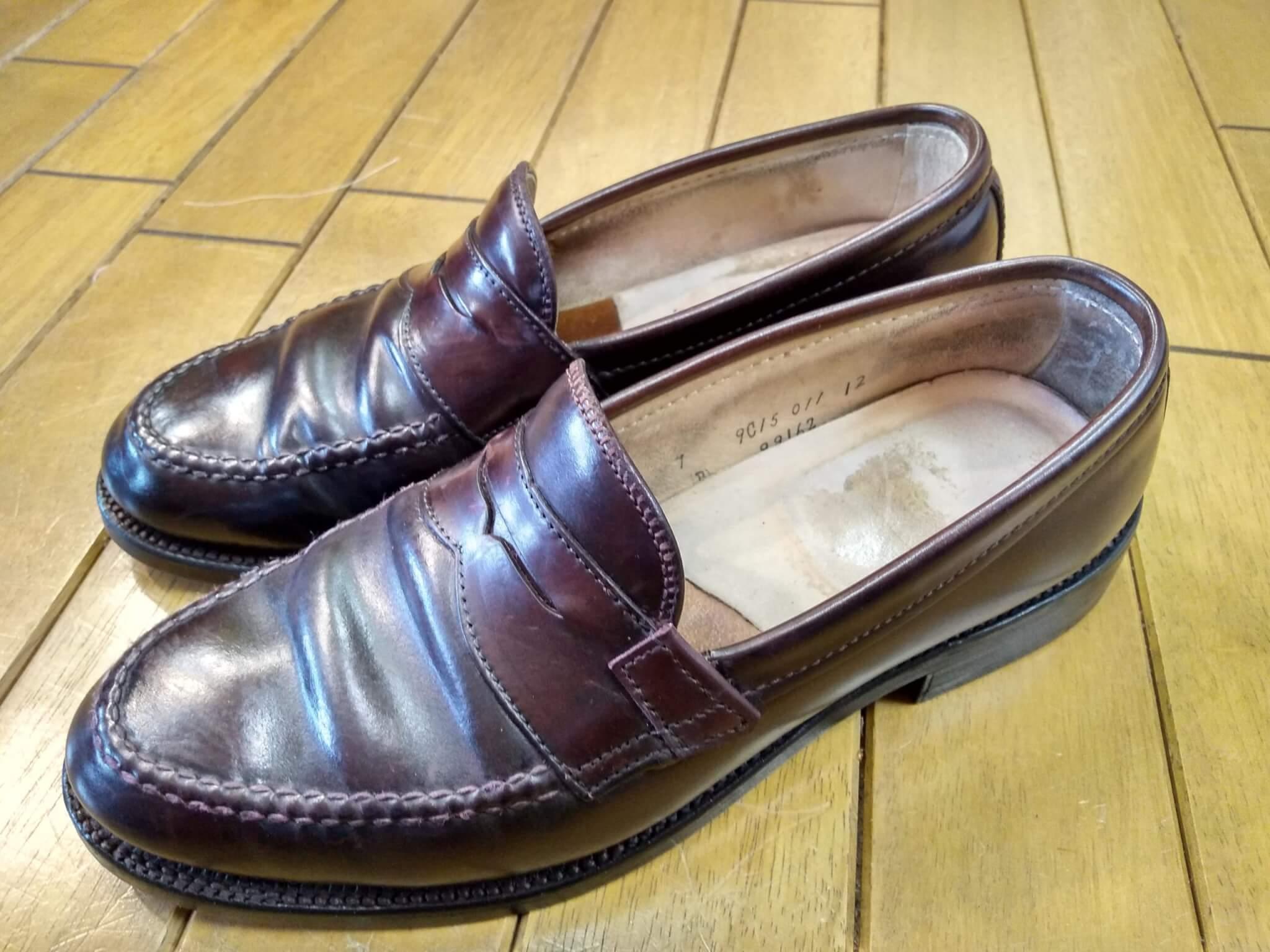 オールデンのコードバン・ローファーのオールソール&アッパー補修&ライニング補修の靴修理