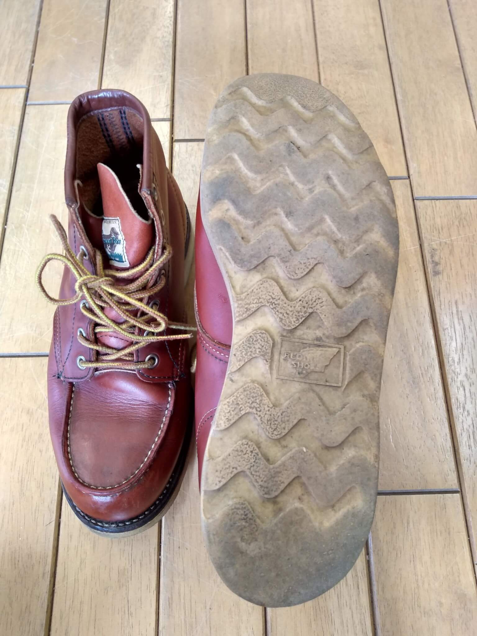 レッドウィング アイリッシュセッターのオールソールの靴修理