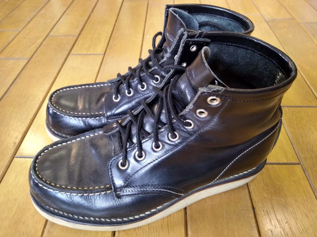セダークレスト ブーツのオールソールの靴修理