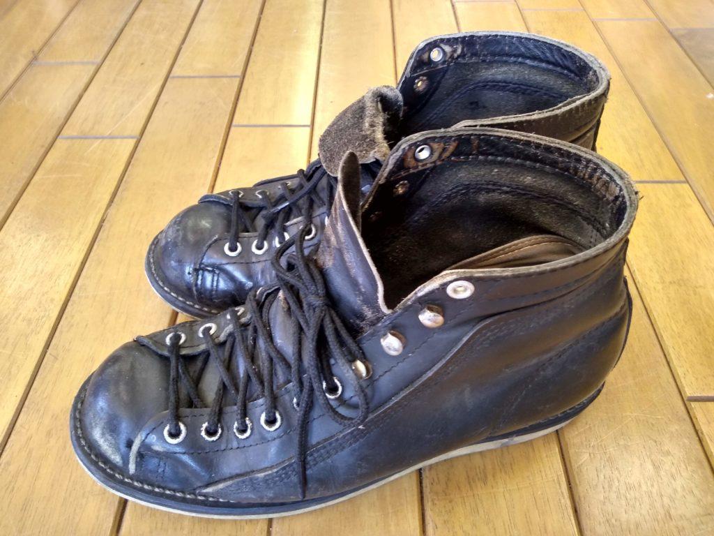 メンズ・ブーツのオールソールの靴修理